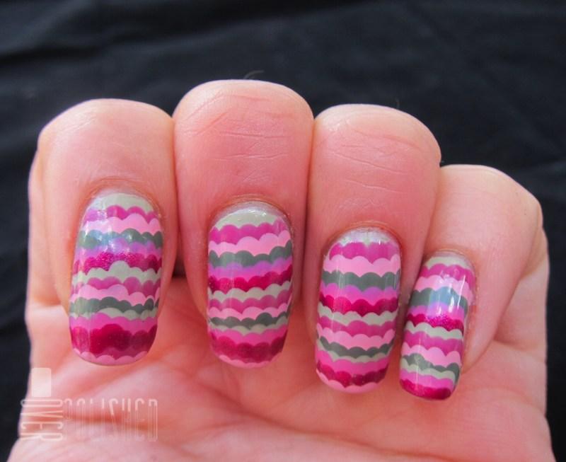 Pink & Green Ruffle Mani