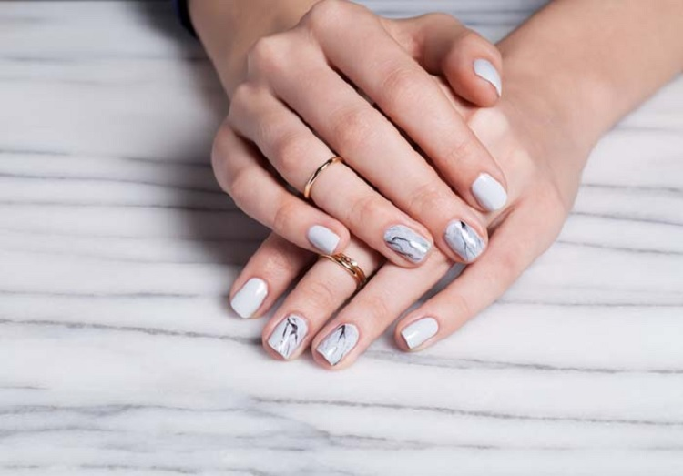 Marble Nails Using Nail Dipping Powder